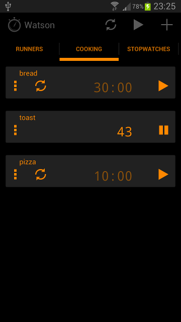 APP][FREE] Watson - multiple stopwatch and timer - Android