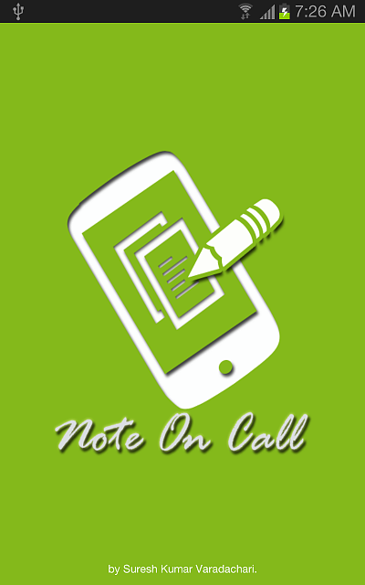 Note on Call Lite  app start writing notes on call and no need for you to search for pen and paper-droid-screen-3.png