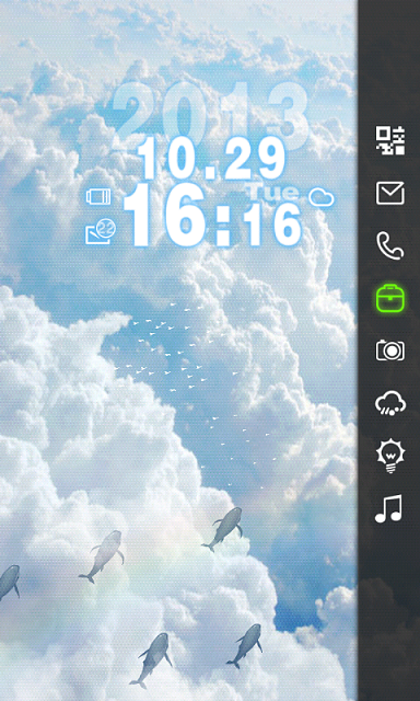 Theme]Sea of Clouds Live Free Theme[Locker Master] - Android