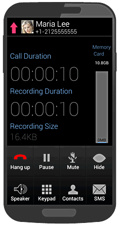MobiMonster Call Recorder for Android-live_call.png