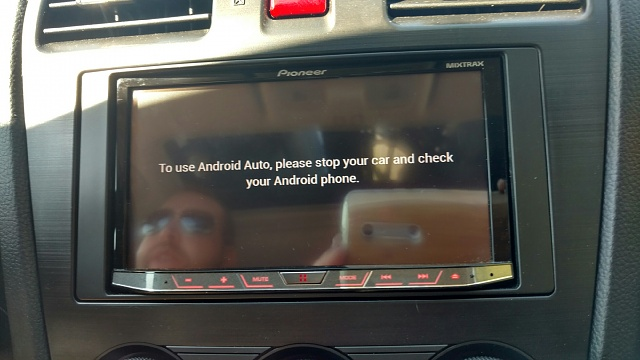 to use android auto please park your car and check your