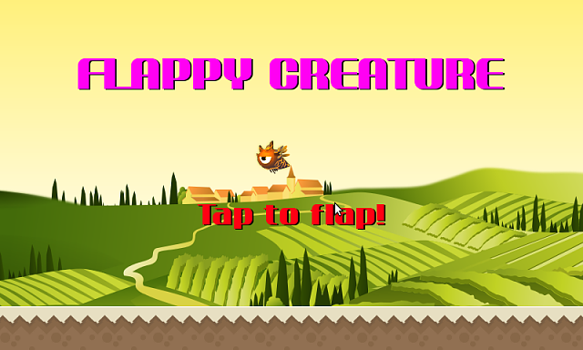 [FREE] Flappy Creature cross though pipes from right to left in a Flappy Bird clone-screen1.png