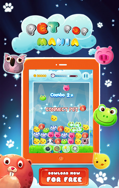 PET POP MANIA [Free]-An addictive game for everyone-1.png