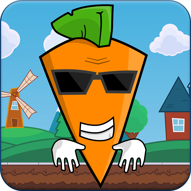 Funny 2D android runner - Carrot vs rabbits-ya.png