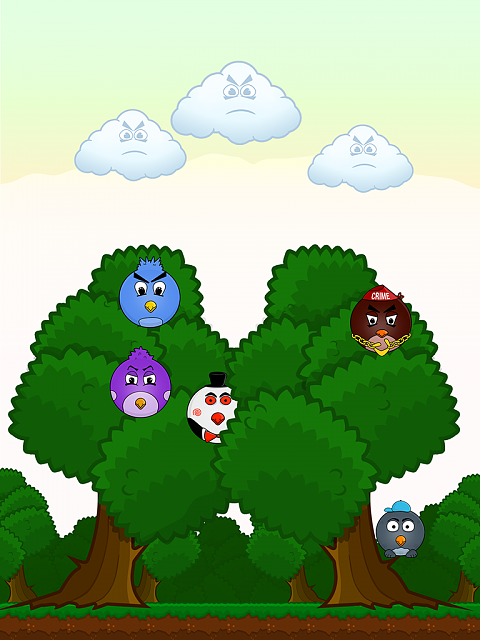 Naive Birds - exciting 2D Android arcade-enter-first-screen-1024-768.png