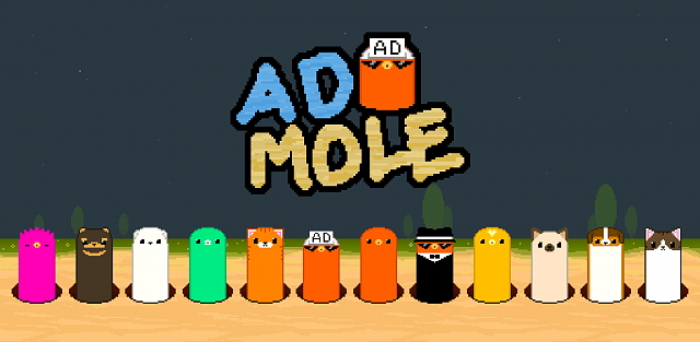 [FREE][GooglePlay] Ad mole - Advertising is also a game element!-admolegraphic_en.png