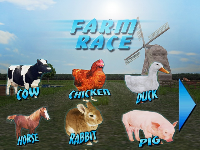 """Farm Race"" the one and only racing game with farm animals-02.jpg"
