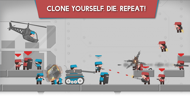 [FREE][INDIE] Clone Armies - Unique 2D Shooter (you never ever played something like this!)-feature_cloneyourselfdierepeat.png