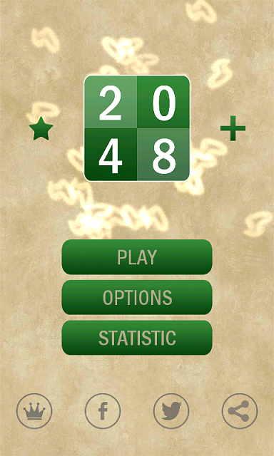 [FREE] [Android] [GAME] 2048 Puzzle-main-menu-without-remove-ads.png
