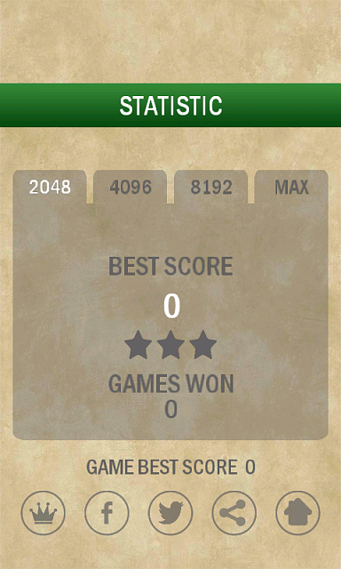 [FREE] [Android] [GAME] 2048 Puzzle-statistic.png