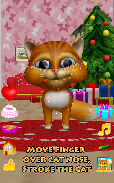 [free game][3d christmas talking cat][talk dance cucumber and presents]-device-2016-01-04-010717.png
