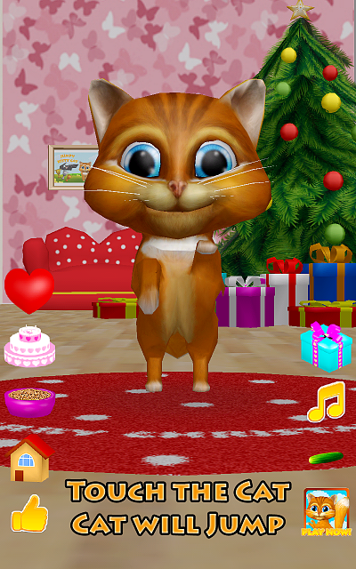 [free game][3d christmas talking cat][talk dance cucumber and presents]-device-2016-01-04-011016.png