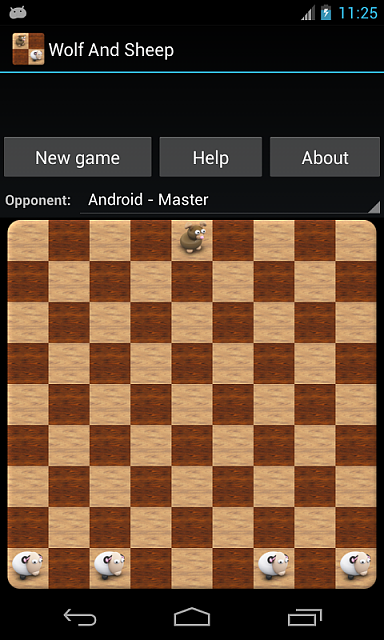 [FREE][GAME][2.3+] Wolf and Sheep - logical game on chessboard for two players-screenshot1_480x800.png