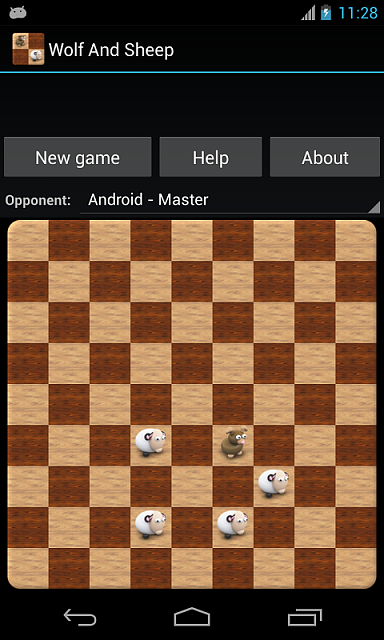 [FREE][GAME][2.3+] Wolf and Sheep - logical game on chessboard for two players-screenshot2_480x800.png