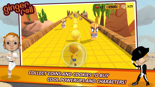 [GAME] Ginger Roll - Cute Arcade Platform - Free Promo Codes Attached-screen640x640-3.jpeg