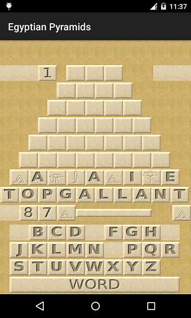 [FREE][GAME][2.3+] Egyptian Pyramids - a logical game  with words finding.-game.png