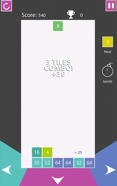 [Free][Game] 2SQUARE: A Number Puzzle Game - When Tetris marries 2048 game-screenshot_2016-02-26-17-11-31-540x960.jpg