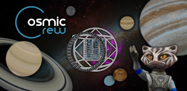 [Free][No Ads] Be the captain of a science starship in Cosmic Crew!-featuregraphic.png