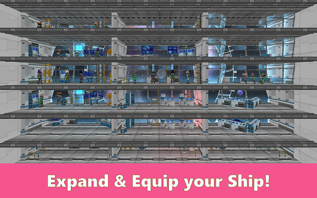 [Free][No Ads] Be the captain of a science starship in Cosmic Crew!-cosmiccrew_screen4.png