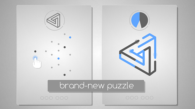 """Black Blue"" unique minimal puzzle game with fresh and simple gameplay-ss1280.png"