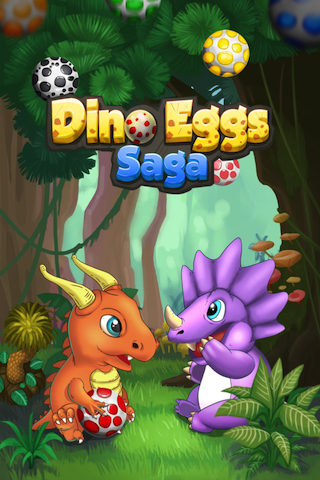 Dino Eggs Saga- Join great adventure, rescue dinosaur friends! Shoot to match 3 eggs-ip4-pic_0.png