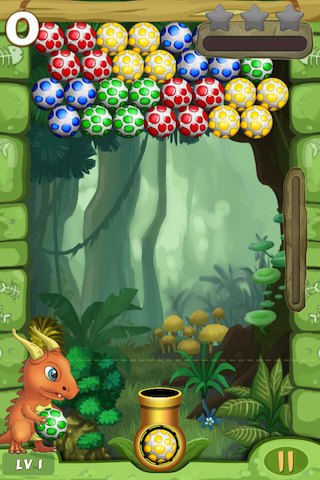 Dino Eggs Saga- Join great adventure, rescue dinosaur friends! Shoot to match 3 eggs-ip4-pic_1.png