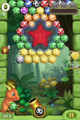 Dino Eggs Saga- Join great adventure, rescue dinosaur friends! Shoot to match 3 eggs-ip4-pic_2.png