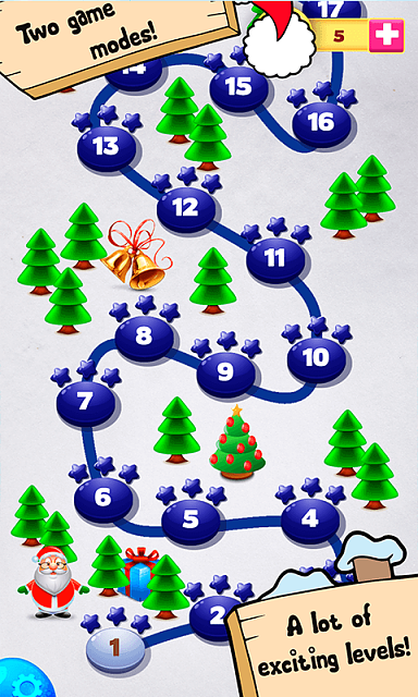 [free] [arcade,casual,puzzle] Bubble Shooter Christmas Balls-sc2.png