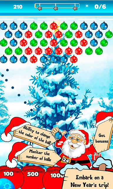 [free] [arcade,casual,puzzle] Bubble Shooter Christmas Balls-sc3.png