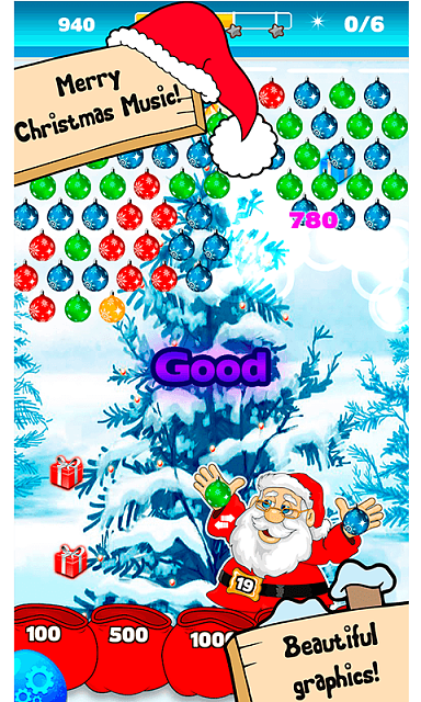 [free] [arcade,casual,puzzle] Bubble Shooter Christmas Balls-sc4.png