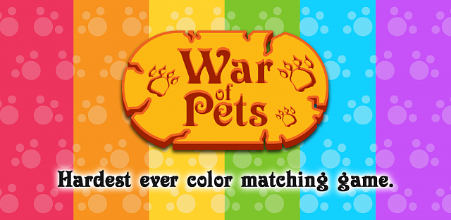 [Free Game] War of Pets - Hardest ever color matching game-featuregraphic.png