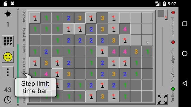 Minesweeper Dreams  - classic with square, hexagon and triangle tiles and many extra features-msd-step-limit.jpg