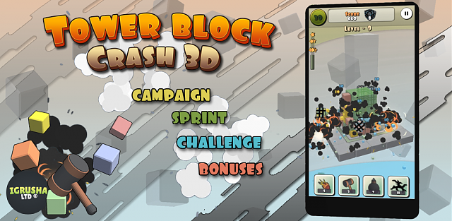 New pazzle/arcade style in game Tower block crash 3D.-promo_1024_500.png