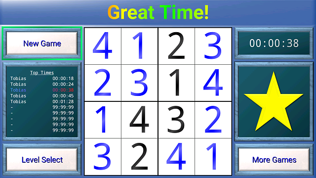 [Free   In-App] TV Sudoku: 4x4, 9x9 and 16x16 for Android TV-tvscreen3.png