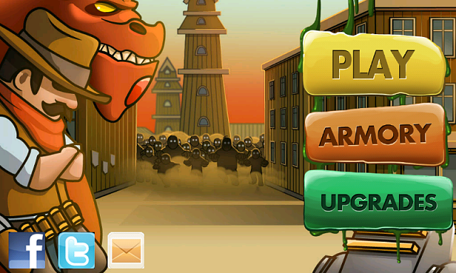 Cowboy Jed, the last hero on the Earth, is on Google Play-screen_start_800x480.png