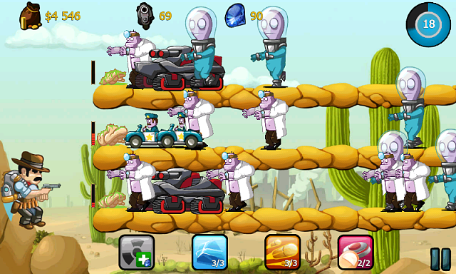 Cowboy Jed, the last hero on the Earth, is on Google Play-screen_gameplay_800x400_2.png