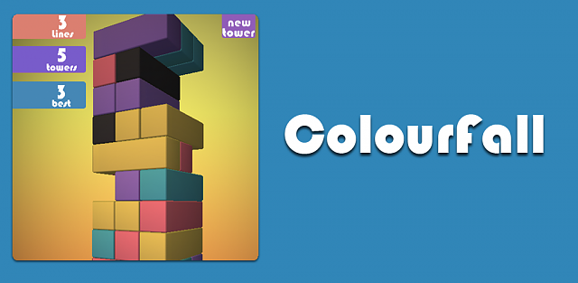 [Free][Game] Colourfall : A match 3 puzzle game -  if Jenga and Tetris had a baby.-kindle_promo.png