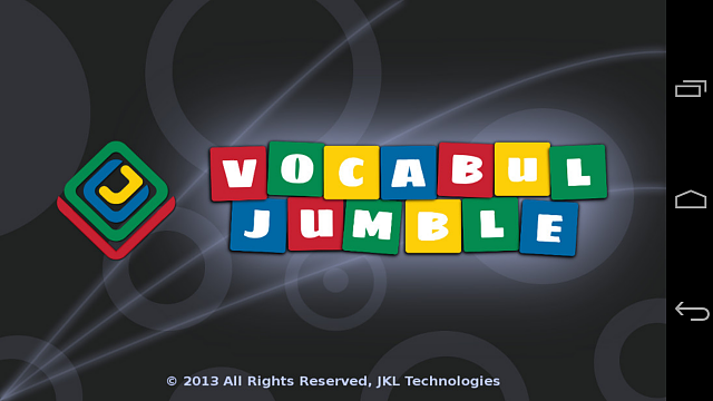 [Free][Game] Vocabul Jumble (Word Jumble) - Our First Android Game-01.splashscreen.png