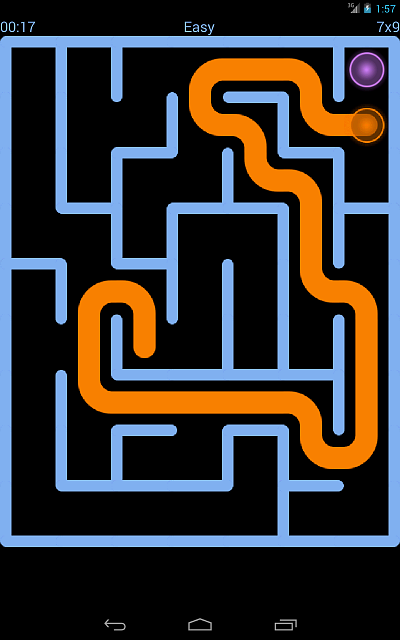 NeverMaze for Android-easy_mode_solved.png