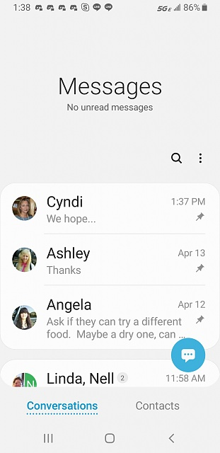 Galaxy S8, Pie, disable the huge pull down Messaging notification banner??-screenshot_20190423-133859_messages.jpg