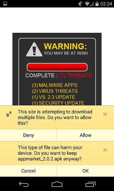 Virus Popup Warning Fake Android Forums At