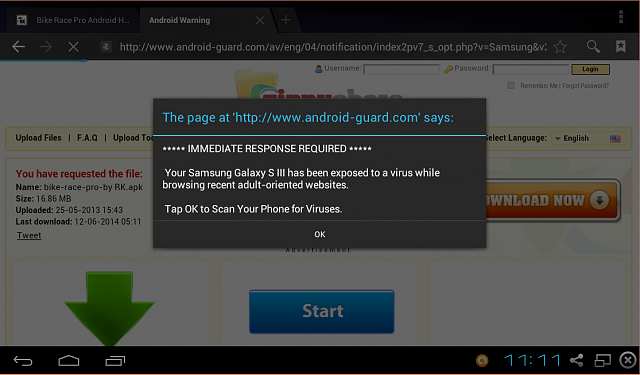 "Popup says ""Your cell may have a virus""-androidvirus.png"