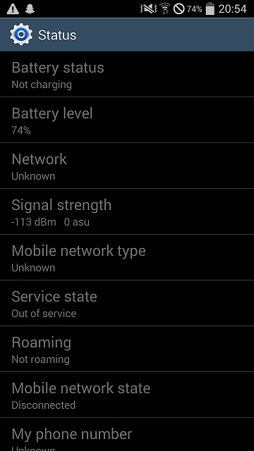 Full Signal but emergency calls only!
