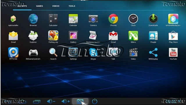 No widget menu available. X5 II Android TV box-tomatoscreen.jpg