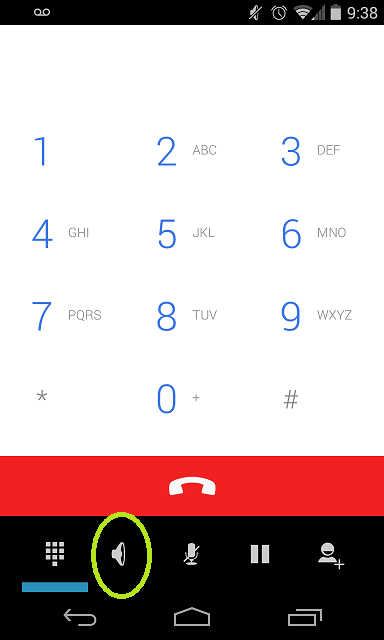 How do I turn on the speaker on the Samsung Galaxy Centura?-screenshot_2014-09-26-09-38-11.png