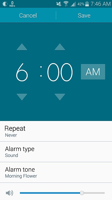 On Note 4, I cannot set an alarm to just go off once, it has to be a repeating alarm?-uploadfromtaptalk1425062840337.jpg