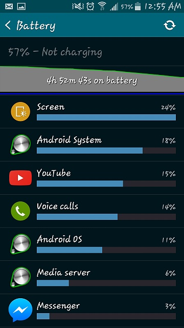 My battery is draining pretty fast, nearly 10% in 30 minutes, am I doing something wrong?-screenshot_2015-04-02-00-55-13.jpg