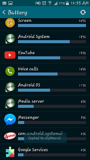 My battery is draining pretty fast, nearly 10% in 30 minutes, am I doing something wrong?-screenshot_2015-04-02-00-55-18.jpg