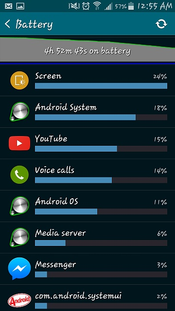 My battery is draining pretty fast, nearly 10% in 30 minutes, am I doing something wrong?-screenshot_2015-04-02-00-55-27.jpg