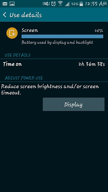 My battery is draining pretty fast, nearly 10% in 30 minutes, am I doing something wrong?-screenshot_2015-04-02-00-55-41.jpg